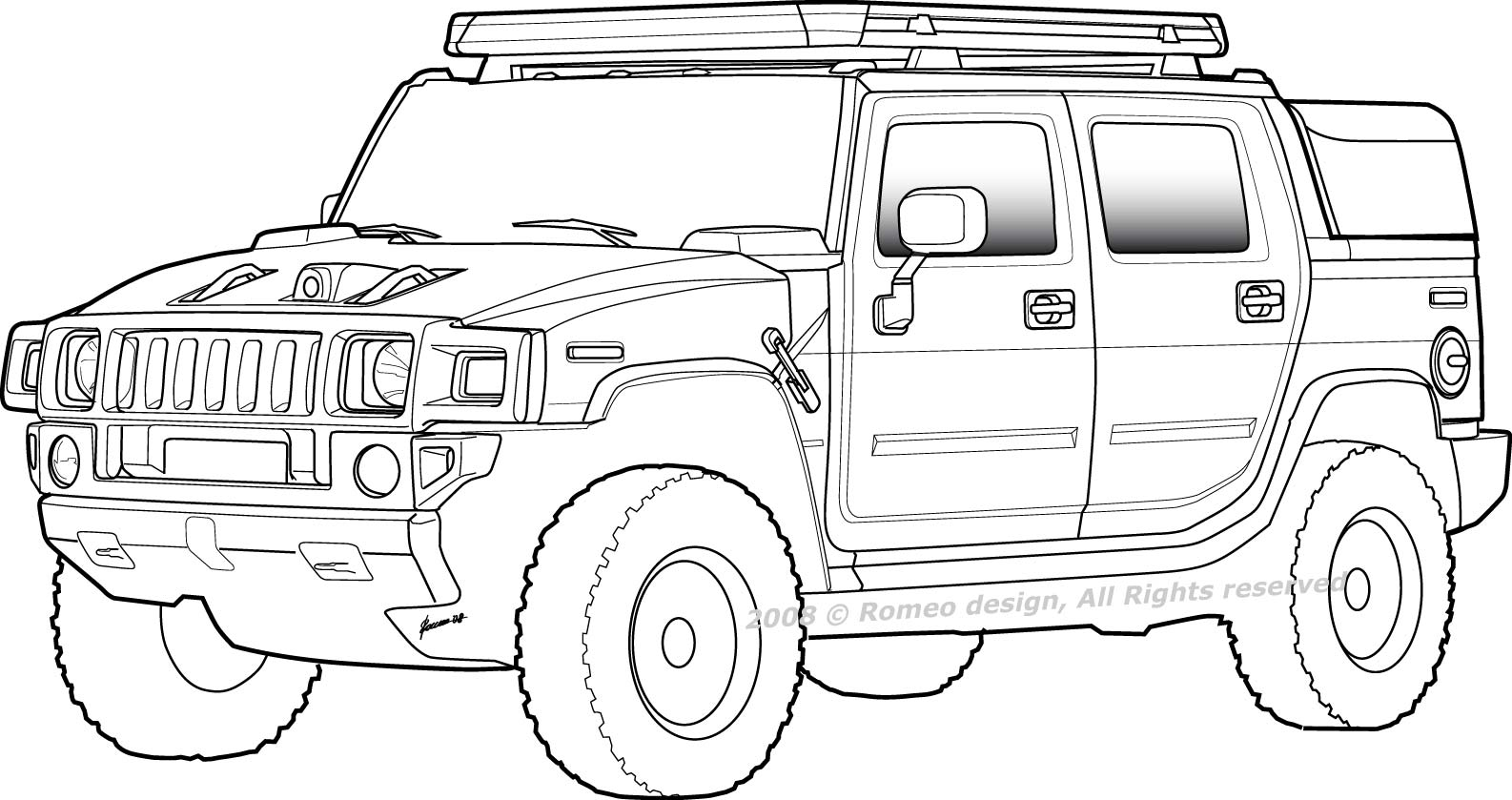 hummer coloring pages to print - photo#15
